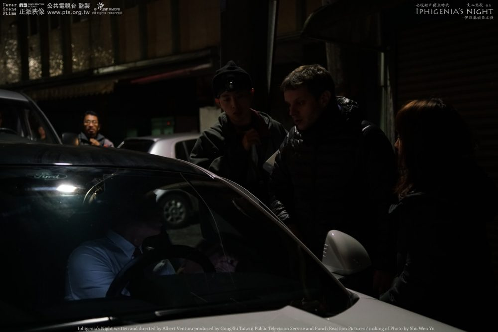 Iphigenia's Night's making of. Picture 1