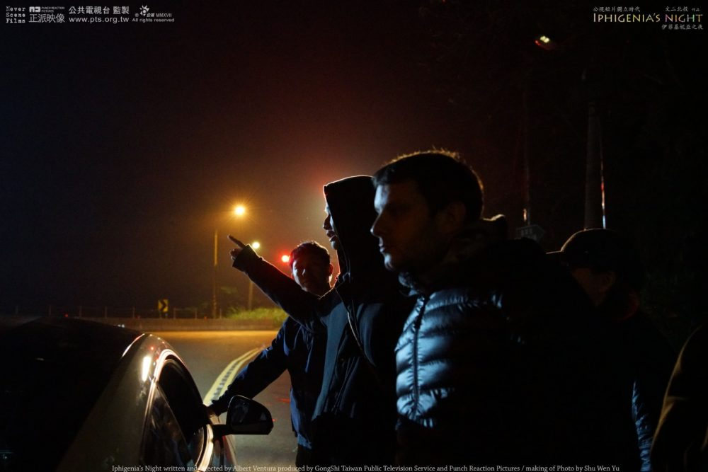 Iphigenia's Night's making of. Picture 4