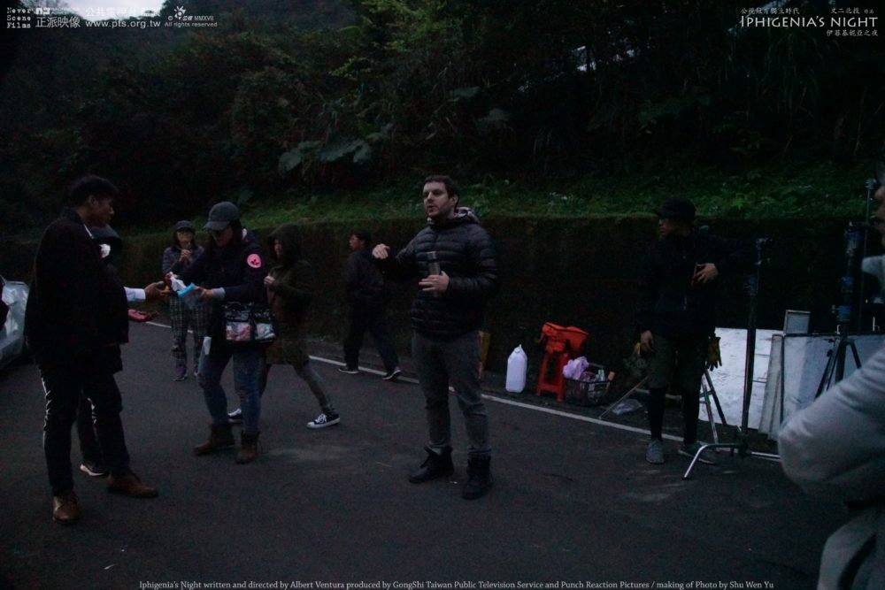 Iphigenia's Night's making of. Picture 9